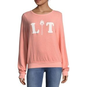 Wildfox Lit Pullover Sweater Size Small
